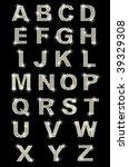 diamond latin letters on black...   Shutterstock . vector #39329308