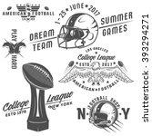 set of american football... | Shutterstock .eps vector #393294271
