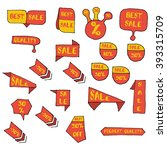 sale tags. sale banners set.... | Shutterstock .eps vector #393315709