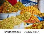 selection of pickled olives on...   Shutterstock . vector #393324514