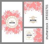 vintage delicate invitation... | Shutterstock .eps vector #393332701