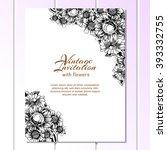 vintage delicate invitation... | Shutterstock .eps vector #393332755