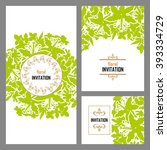 romantic invitation. wedding ... | Shutterstock .eps vector #393334729