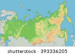 high detailed russia physical... | Shutterstock .eps vector #393336205