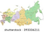 russia   highly detailed... | Shutterstock .eps vector #393336211