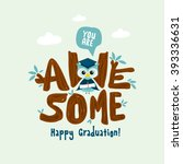 awesome typography design ... | Shutterstock .eps vector #393336631