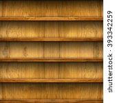 seamless wooden shelves for... | Shutterstock . vector #393342259