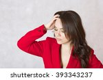 a young woman between 30 and 40 ...   Shutterstock . vector #393343237