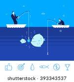flat design vector concept... | Shutterstock .eps vector #393343537