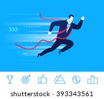 flat design vector concept... | Shutterstock .eps vector #393343561