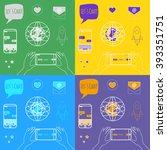 line designed icons  streamer ... | Shutterstock .eps vector #393351751