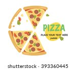 pizza flat icons isolated.pizza ... | Shutterstock .eps vector #393360445