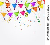 party background with flags... | Shutterstock .eps vector #393361627