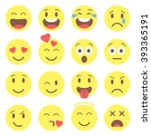 emoji set.  avatar isolated on... | Shutterstock .eps vector #393365191