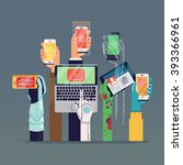cool vector fictional... | Shutterstock .eps vector #393366961