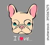 dog vector breed cute pet...   Shutterstock .eps vector #393367675