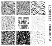 set of eight black and white... | Shutterstock .eps vector #393368779