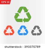 recycle icon vector | Shutterstock .eps vector #393370789
