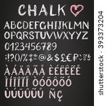 chalk latin multilingual... | Shutterstock .eps vector #393373204