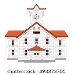 sapporo clock tower | Shutterstock .eps vector #393373705
