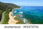 the great ocean road coastline  ... | Shutterstock . vector #393373741