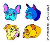 dog vector breed cute pet...   Shutterstock .eps vector #393381025