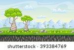 seamless nature cartoon... | Shutterstock .eps vector #393384769