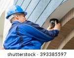 close up of mature male... | Shutterstock . vector #393385597