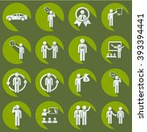 assembly of people silhouettes...   Shutterstock .eps vector #393394441