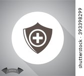 medical cross shield icon | Shutterstock .eps vector #393398299
