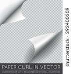 vector paper page curl with... | Shutterstock .eps vector #393400309