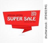 super sale banner template... | Shutterstock .eps vector #393401941