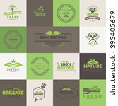 set of organic product  ... | Shutterstock .eps vector #393405679