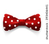 red polka dot bow tie isolated... | Shutterstock .eps vector #393406441