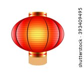 chinese lantern isolated on... | Shutterstock .eps vector #393409495