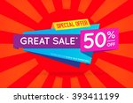 sale sign banner poster ready... | Shutterstock .eps vector #393411199