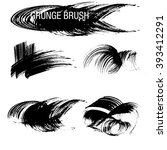 vector set of grunge brush... | Shutterstock .eps vector #393412291