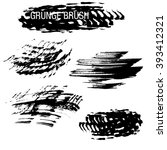 vector set of grunge brush... | Shutterstock .eps vector #393412321