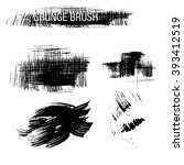vector set of grunge brush... | Shutterstock .eps vector #393412519
