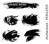 vector set of grunge brush... | Shutterstock .eps vector #393412525