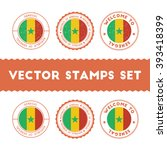 senegalese flag grunge rubber... | Shutterstock .eps vector #393418399