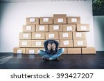 man with anxiety  | Shutterstock . vector #393427207