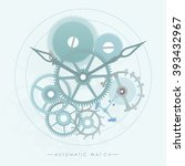 the mechanism of automatic... | Shutterstock .eps vector #393432967