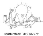 sketch of lamp idea... | Shutterstock .eps vector #393432979