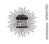 Black And White Burger Icon...