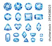 Set Of Realistic Blue Jewels....
