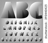 alphabet vector typography set... | Shutterstock .eps vector #393440425