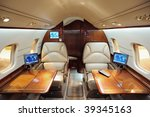 interior of jet airplane | Shutterstock . vector #39345163