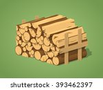 Firewood Stacked In Piles...