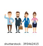 business man and business woman ...   Shutterstock .eps vector #393462415